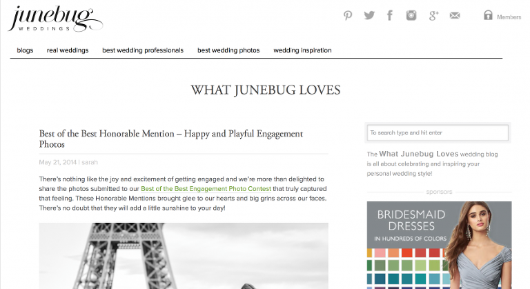 What Junebug Loves - Anita Martin Photography Happy and Playful Best Engagement Photo