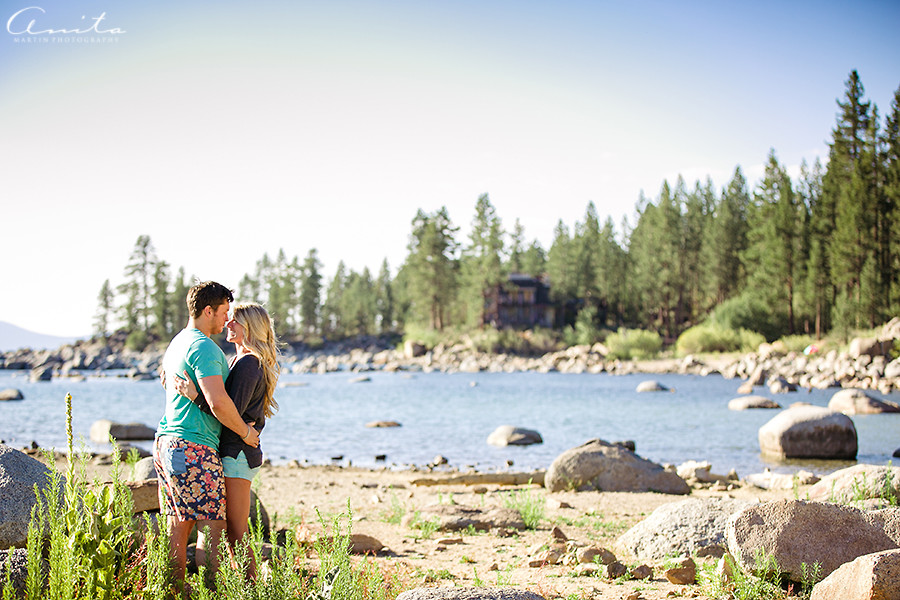 Lake Tahoe Zephyr Cove Camp Engagement Photographer 000