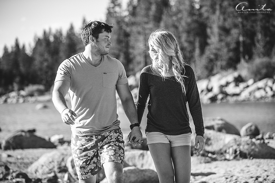 Lake Tahoe Zephyr Cove Camp Engagement Photographer 001