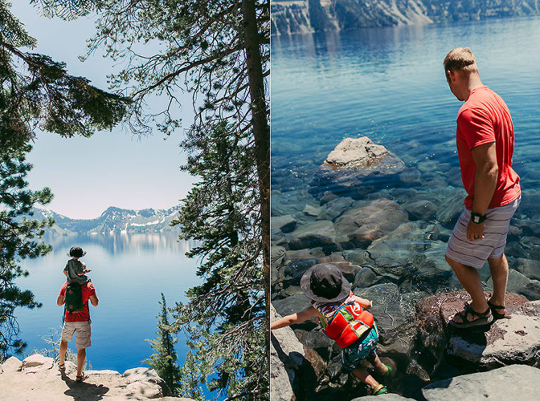 Adventure Family Photographer Crater Lake Hiking